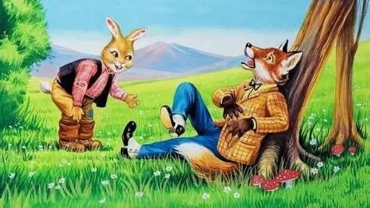 原来森林深处的动物并不知道兔子和狮子的故事